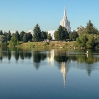 Idaho Falls Greenbelt and Mormon Temple