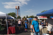 Idaho Falls Farmers Market and Idaho Falls Power Water Tower