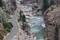 View of Shoshone River From Buffalo Bill Dam