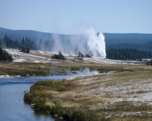 Old Faithful From Geyser Basin