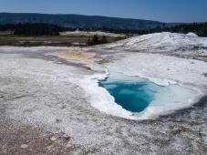Blue Pool in Geyser Basin