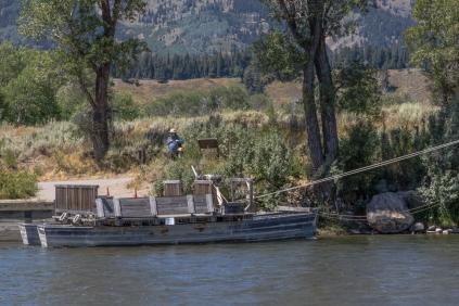 Menors Ferry Crosses the Snake River