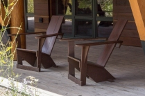 Chairs on Porch of LSR Visitor Center