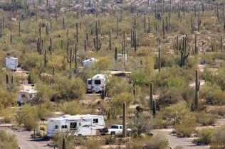 View of Campground from Desert View Hike