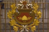 Shield on Banister