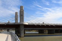 View of Suspension Bridge from Buzzard Billy's