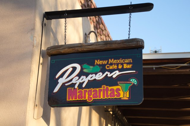 Peppers New Mexican Cafe and Bar sign