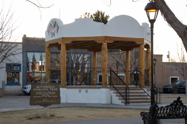 Mesilla, Texas bandstand in plaza