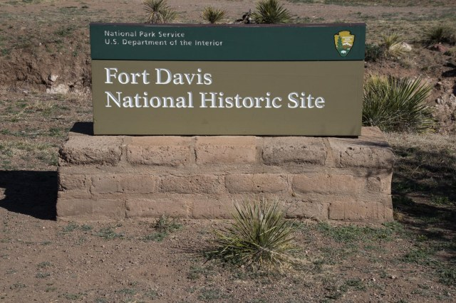 Fort Davis National Historic Site sign