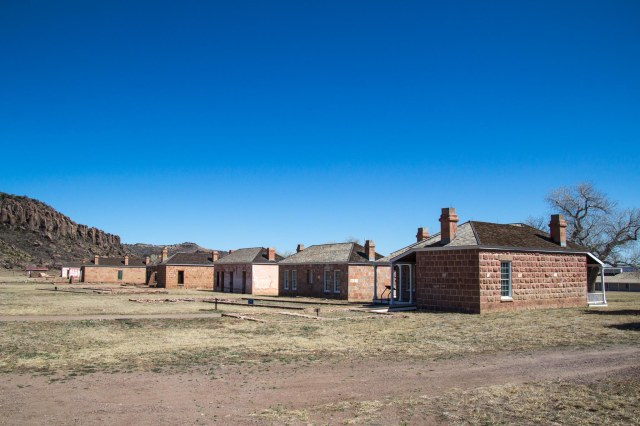 Rear of officer housing at Fort Davis National Historic Site
