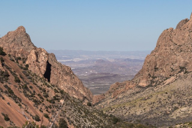 Window view of Chihuahuan desert