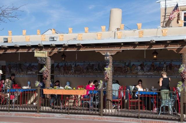 Out door restaurant seating