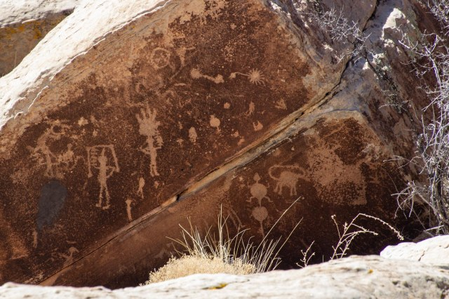 Petroglyphs on a rock