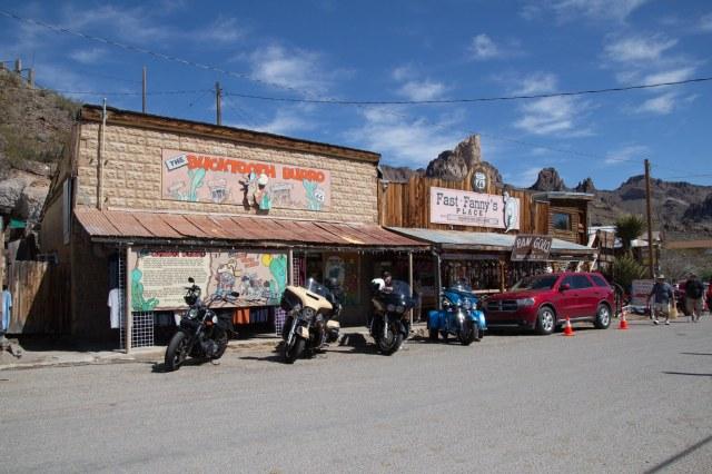 Western town street scene