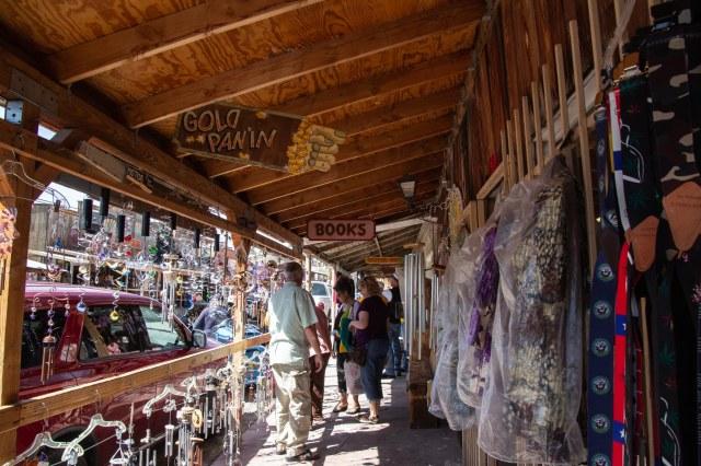Stores along boardwalk