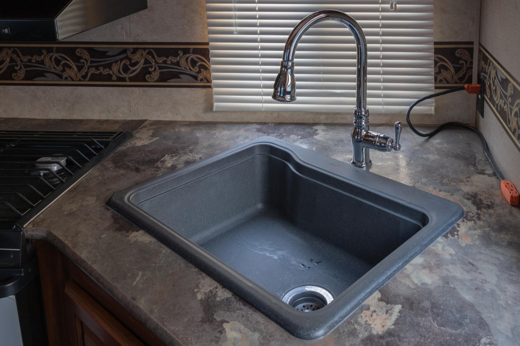 New RV Kitchen Sink and Faucet