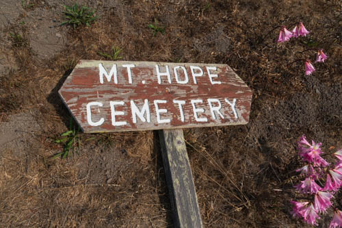 Mt. Hope Cemetery sign