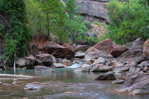 Virgin River pools and boulders