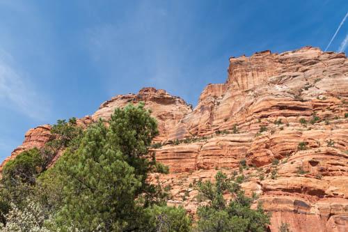 Reddish rock formations