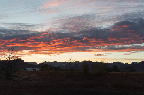 Sunrise over Zion peaks