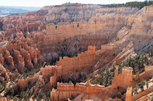 Bryce Canyon hoodoos, walls, and windows