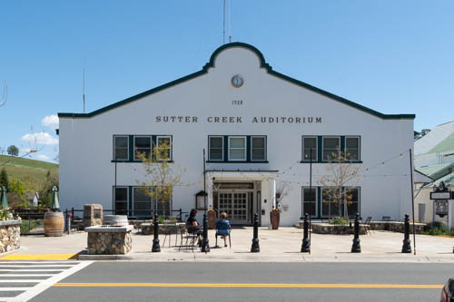 White early 1900 building used as Sutter Creek Auditorium